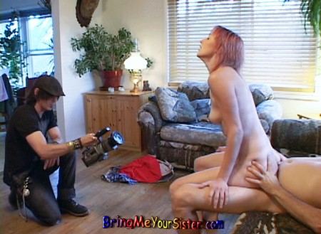 Sexy Redhead Teen Lets Her Brother Film Her Fucking