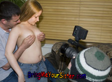 Hal films his sister Lainna White